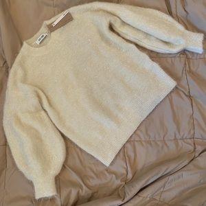 Sparkly cream colored sweater